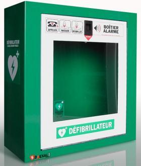 Armoire Métal / Alarme  Pour défibrillateur
