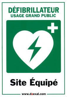 Autocollant SITE EQUIPE pour défibrillateur