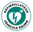 Autocollant VEHICULE EQUIPE DEFIBRILLATEUR