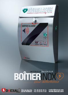 BOÎTIER INOX pour défibrillateurs PHILIPS