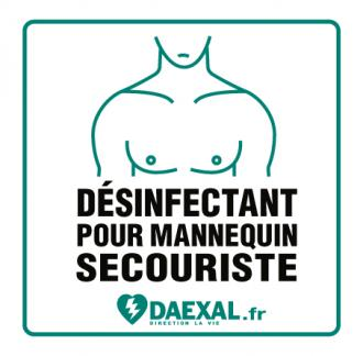 Dosette de désinfection masque mannequin secourisme (x 10) COVID19