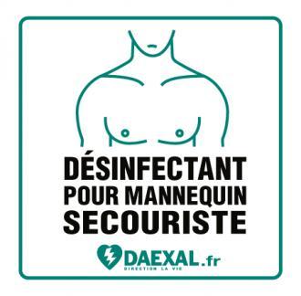Dosette de désinfection pour masque de mannequin secourisme (x 10)