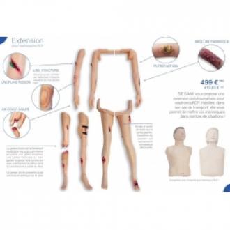 Kit blessures pour mannequin Little anne ou Ambuman (Bras)