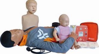 KIT 3 mannequins et défibrillateur pour entreprise et lycée professionnel