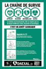 Affiche défibrillateur     LA CHAÎNE DE SURVIE