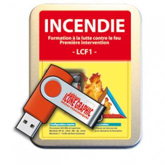 LA CLE USB LCF1 - INCENDIE PREMIERE INTERVENTION