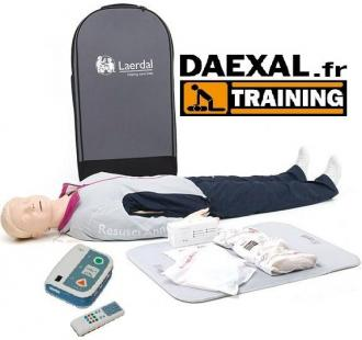 MANNEQUIN + DEFIBRILLATEUR Formation RCP/DAE
