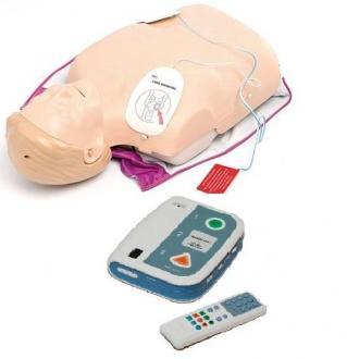 Mannequin Little Anne QCPR avec défibrillateur de formation