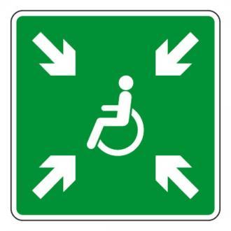 Point de rassemblement handicapés PVC 400x400