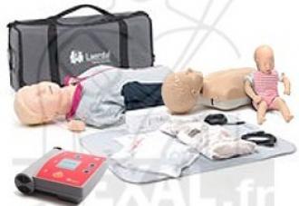 3 Mannequins et défibrillateur pour formation PSC1-SST