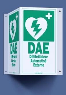 Signalisation murale pour défibrillateur